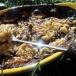 recette Crumble fondant au bananes & nutella