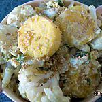 recette Choux fleur à la polenta et graines de sésame