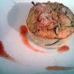 recette Flan de polenta courgettes et chevre