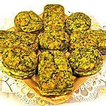 recette MINI -CAKES AUX EPINARDS ET AUX PIGNONS
