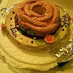 gâteau au chocolat blanc et son glaçage au chocolat blanc