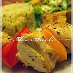 recette Brochettes de poulet à la grecque