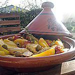 Tajine de poulet aux pommes de terres et olives