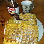 recette GAUFRES  hollandaises faite par mon mari  pour la journée de la femme