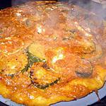 tarte tatin de courgette pesto rosso