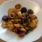 recette Pommes de terre sauté, oignons, poivrons, chorizo