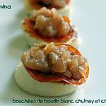 recette BOUDIN BLANC AU CHORIZO ET AU CHUTNEY