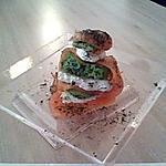 recette Millefeuille de saumon et chevre