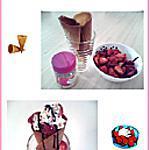 recette Cornet de glace maison fraise et chantilly