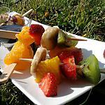 recette Brochettes de fruits & fondu au nutella