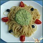 recette Spaghettis à la Crème de Courgette au Parmesan et aux Noisettes