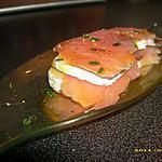 recette millefeuille de saumon au miel
