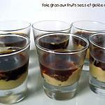 VERRINES DE FOIE GRAS, FRUITS SECS ET GELEE DE FIGUES