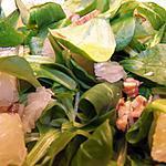 recette Olala, la salade de mâche au pamplemousse chinois !