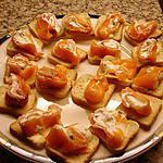 recette Petits Canapés Roulé Saumon   et st Morret