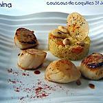 recette COUSCOUS DE COQUILLES SAINT JACQUES