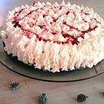 recette Vacherin créme brulé et fraise décoré par mr gourmand