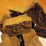 recette BROWNIE AU NUTELLA AUX NOIX DE PECAN ET AU FROMAGE FRAIS