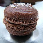 recette macaron chocolat & noix de coco