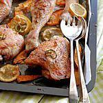 recette Cuisses de poulet au gingembre et aux patates douces