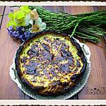 Tarte aux asperges sauvages et au magret de canard séché