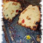 """recette Cake """"maison"""" aux fruits confits"""