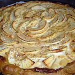 recette Tarte crémeuse aux pommes et sésame.