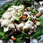 """recette Salade """"vitaminée """" aux pousses d'épinards"""