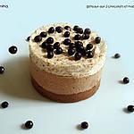 recette SEMI-FREDDO AUX DEUX CHOCOLAT ET AUX MACARONS
