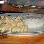 Emincé de poulet à la moutarde et riz basmati