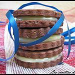recette Sablé au chocolat et sa ganache au chocolat blanc
