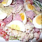 recette salade de riz au jambon