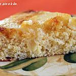 recette Gâteau à l'ananas et caramel