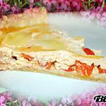 Tarte au thon, poivron rouge à la ricotta & mozzarella