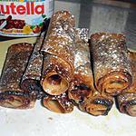 recette Petits roulés au nutella