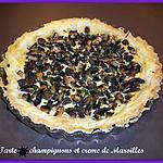 recette Tarte champignons et crème de Maroilles