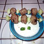 recette brochette de boulettes à la menthe et sa sauce ..........une tuerie