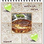 recette Quiche sans pate (repas de ce soir avec une salade)