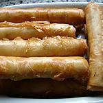 """recette """"Cigares"""" au fromage"""