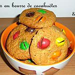 recette Ooo Cookies au beurre de cacahuètes et M&M's ooO