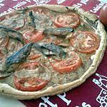 recette Tarte  tomates et maqueraux à la moutarde