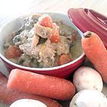 """recette Blanquette de veau à l'ancienne """"au mascarpone"""""""