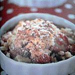 recette Crumble aux fraises gratinées