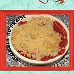recette crumble au fraise