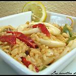 recette Risotto aux calamars & poivrons sauce paprika
