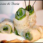 recette Rouleaux de Saint-Pierre à la vanille et épinard