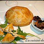 recette Tourte à la noix de Saint-Jacques et champignons des bois