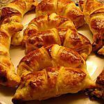 recette Petits croissants au jambon
