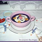 recette Velouté Violet et sa Petite Crème Gourmande