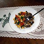 recette Courgette et champignon à la poele au  beurre persillade